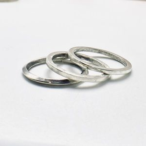 One Handmade sterling silver stackable ring 925